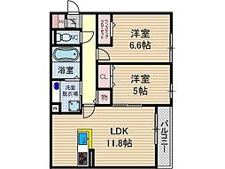 RECOLTE EPI千里丘東[2階]の間取り