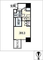レジデンス千代田[7階]の間取り