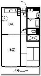 太豊マンション[303号室]の間取り