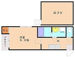 スパロウハウス[1階]の間取り