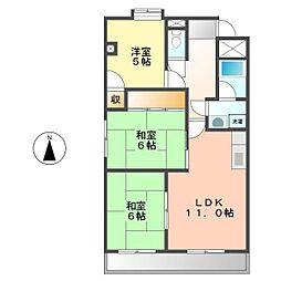 サクセス米本[305号室]の間取り