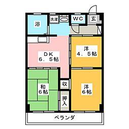 清菱ハイツ[3階]の間取り