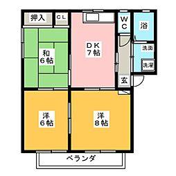 メゾン元町 I[1階]の間取り