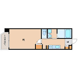 阪神本線 尼崎駅 徒歩7分の賃貸マンション 8階1Kの間取り
