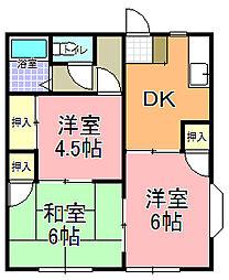 飛田コーポ C棟[102号室]の間取り