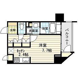 リーガル新福島[10階]の間取り