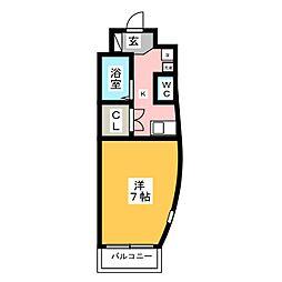 Fortuna箱崎宮前[3階]の間取り