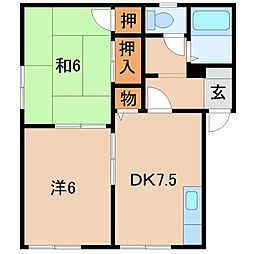 プレジール松房[1階]の間取り