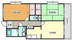 ラフィーネ住之江[3階]の間取り