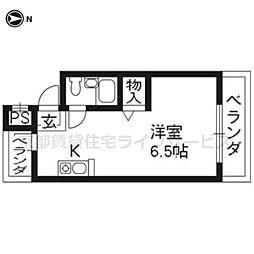 コーポ渋谷[205号室]の間取り