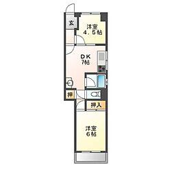 水武ビル[4階]の間取り