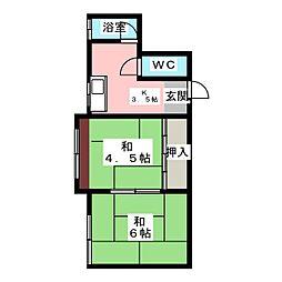 中野ビル[2階]の間取り