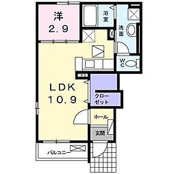 ハイツ須田II[1階]の間取り