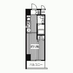 プライムアーバン江坂II[0806号室]の間取り