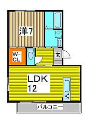 MIYUU MAGAMOTO[2階]の間取り