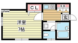 兵庫県神戸市灘区篠原本町1丁目の賃貸マンションの間取り