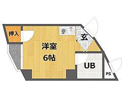 ロイヤルハイツ武庫之荘[2階]の間取り