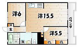 福屋ビル[3階]の間取り