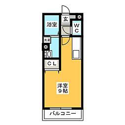 ロイヤル塩釜[2階]の間取り