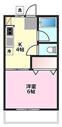 埼玉県坂戸市三光町の賃貸アパートの間取り