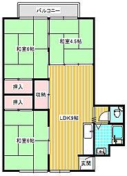 UR住吉団地[7-905号室]の間取り