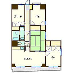 MKマンション第三B棟[4階]の間取り