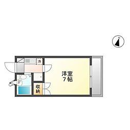 21ハイムB棟[3階]の間取り