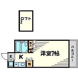 パシフィック南武庫之荘[4階]の間取り