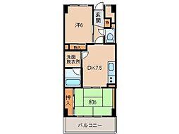 千代グランドマンションA[2階]の間取り