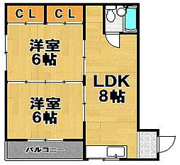 マンション北沢[3階]の間取り