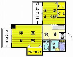 メゾン8号館[3階]の間取り