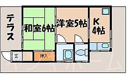 広島県広島市安芸区矢野西7丁目の賃貸アパートの間取り