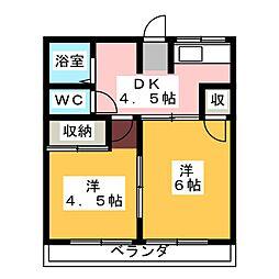 フォーブル葵B[1階]の間取り
