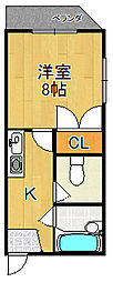 メモリーマンション[3階]の間取り