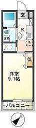 千葉県柏市大室の賃貸マンションの間取り