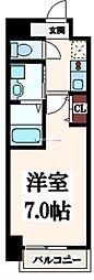 大阪府大阪市生野区新今里1丁目の賃貸マンションの間取り