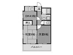 ルミエール玉川学園A棟[3階]の間取り