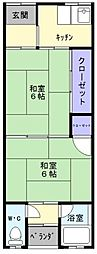 大阪府和泉市池上町4丁目の賃貸アパートの間取り