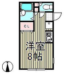 CASA北鎌倉[202号室]の間取り
