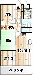 パサージュ小倉北[3階]の間取り