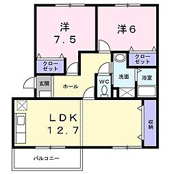 メゾンド本城A[3階]の間取り