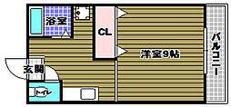 ペドラーム帝塚[1階]の間取り