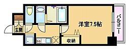 Osaka Metro谷町線 野江内代駅 徒歩10分の賃貸マンション 4階1Kの間取り