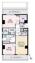 中銀浅草寿町マンシオン[8階]の間取り