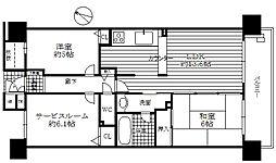 コスモシティ神戸本山 B棟[15階]の間取り