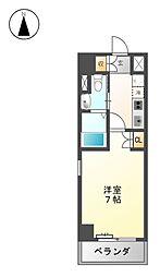 フローライト徳川[10階]の間取り
