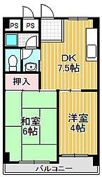 甲東園エクセル[3階]の間取り