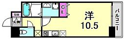 willDo三宮イースト 2階ワンルームの間取り