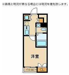 東京臨海高速鉄道りんかい線 東雲駅 徒歩5分の賃貸マンション 3階1Kの間取り