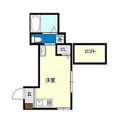 神奈川県横浜市旭区川島町の賃貸アパートの間取り